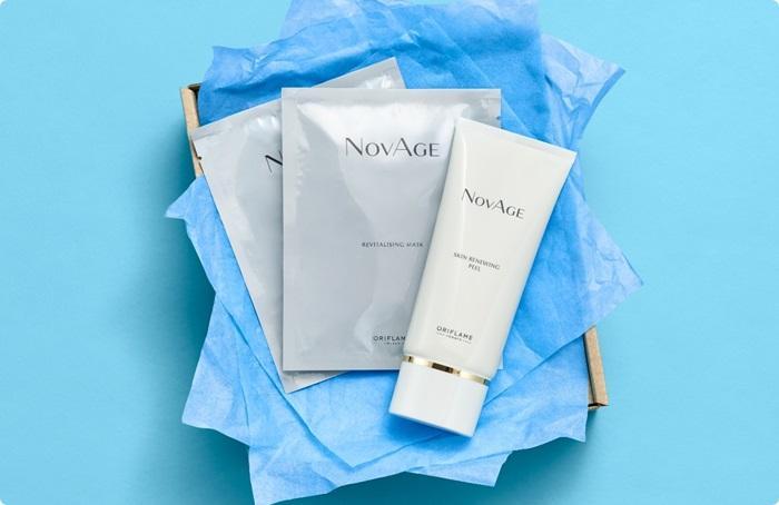Набор NovAge (мини-версия) в подарочной крафтовой упаковке.